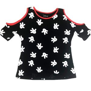 Mickey Mouse Cold Shoulder Short Sleeves
